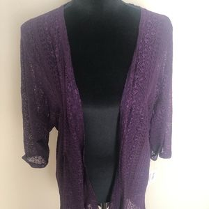 Purple Lace Lularoe Lindsey Kimono